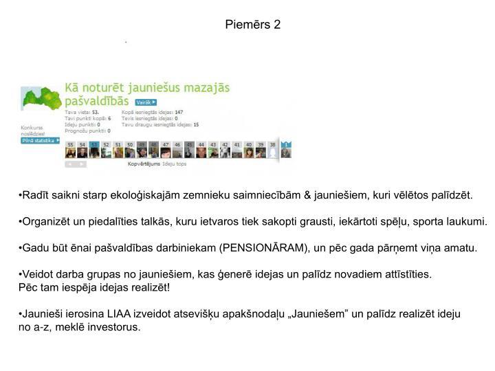 Piemērs 2