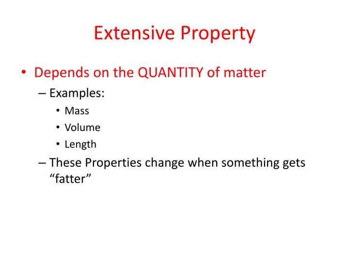 Extensive Property