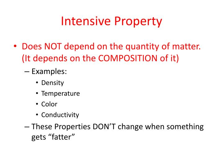 Intensive Property