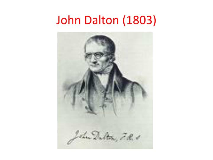 John Dalton (1803)