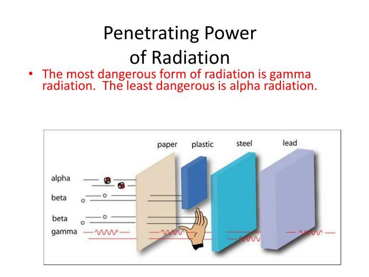 Penetrating Power