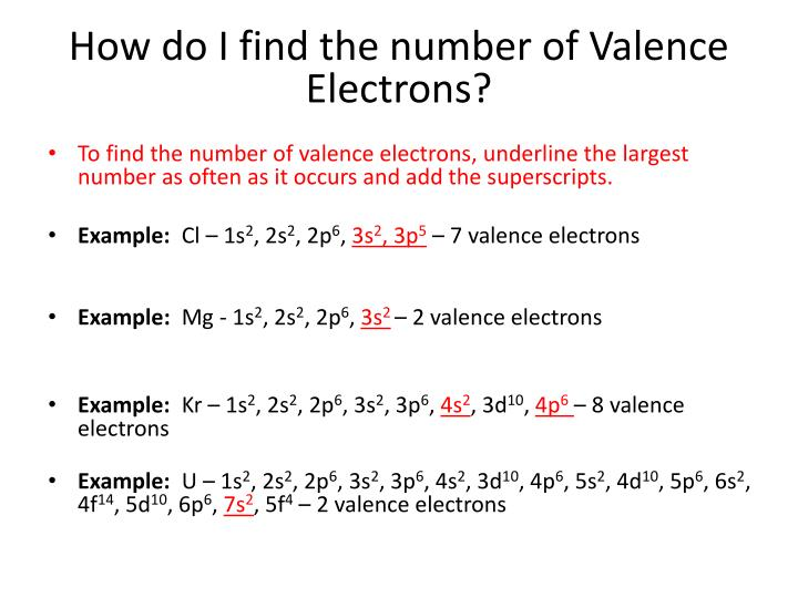 How do I find the number of Valence Electrons?