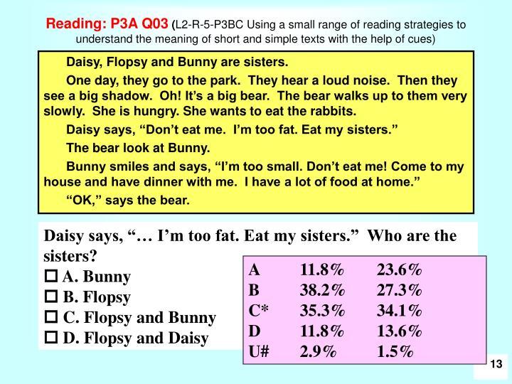 Reading: P3A Q03