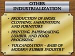 other industrialization