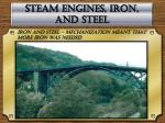 steam engines iron and steel
