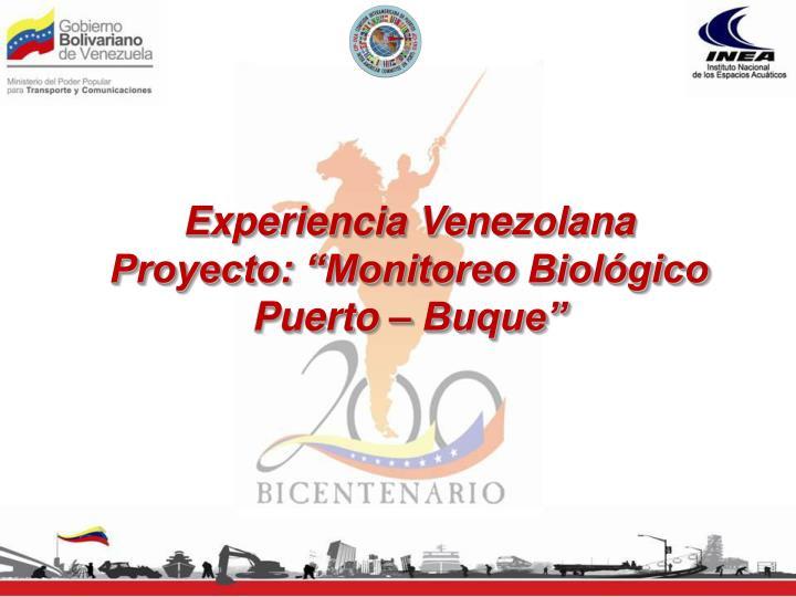 Experiencia Venezolana
