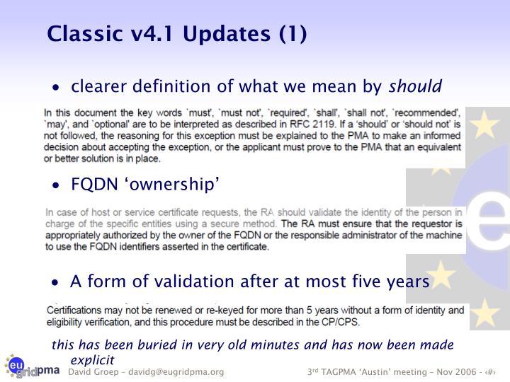 Classic v4.1 Updates (1)