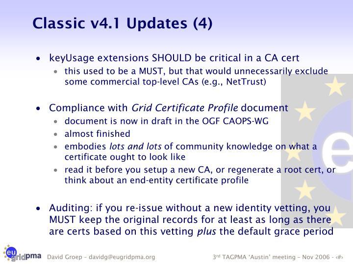 Classic v4.1 Updates (4)