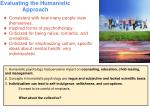 evaluating the humanistic approach
