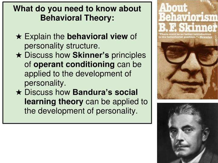 What do you need to know about Behavioral Theory: