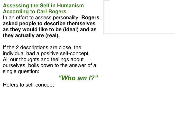 Assessing the Self in Humanism According to Carl Rogers