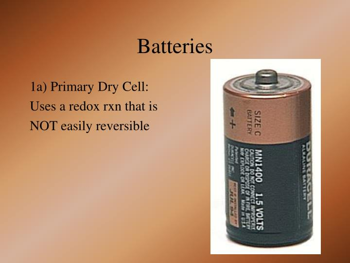 1a) Primary Dry Cell: