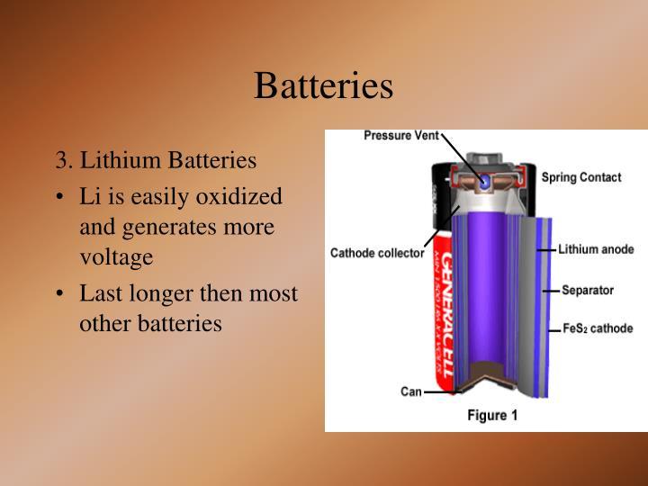 3. Lithium Batteries
