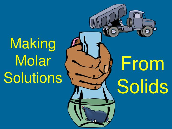 Making Molar Solutions