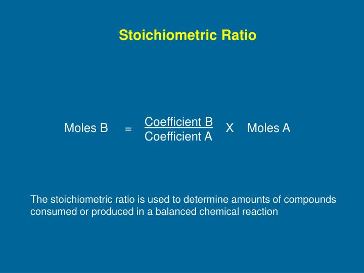 Stoichiometric Ratio