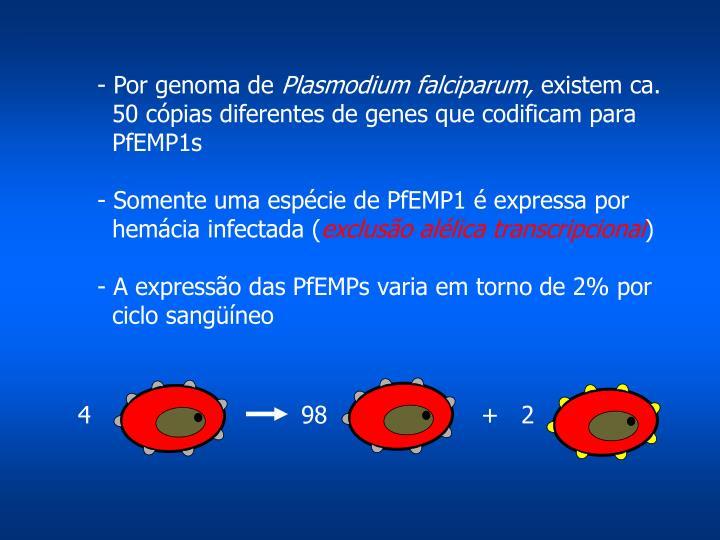 - Por genoma de