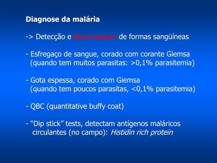 Diagnose da malária