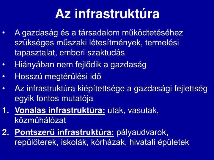 Az infrastruktúra