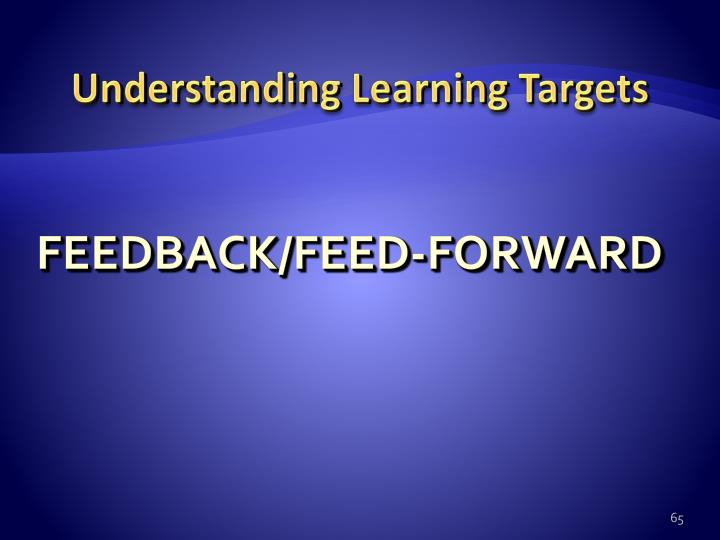 Understanding Learning Targets