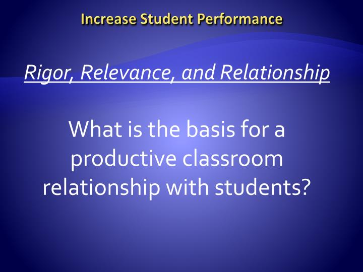 Increase Student Performance