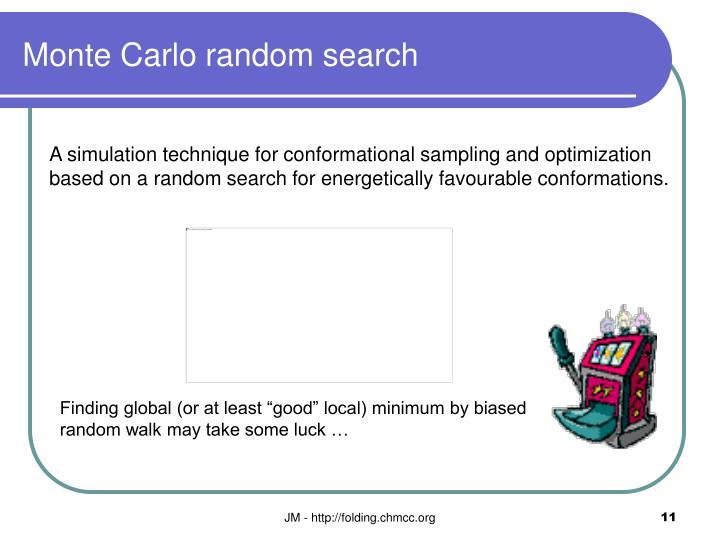 Monte Carlo random search