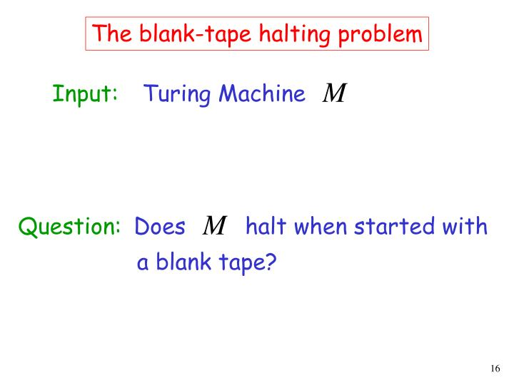 The blank-tape halting problem