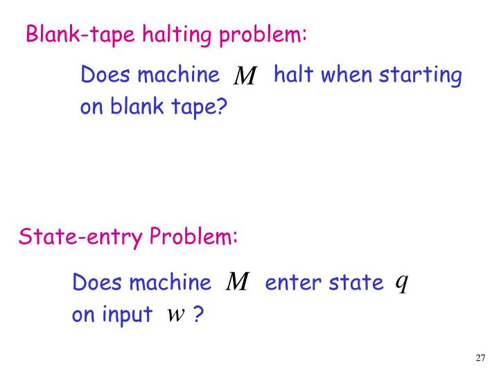Blank-tape halting problem: