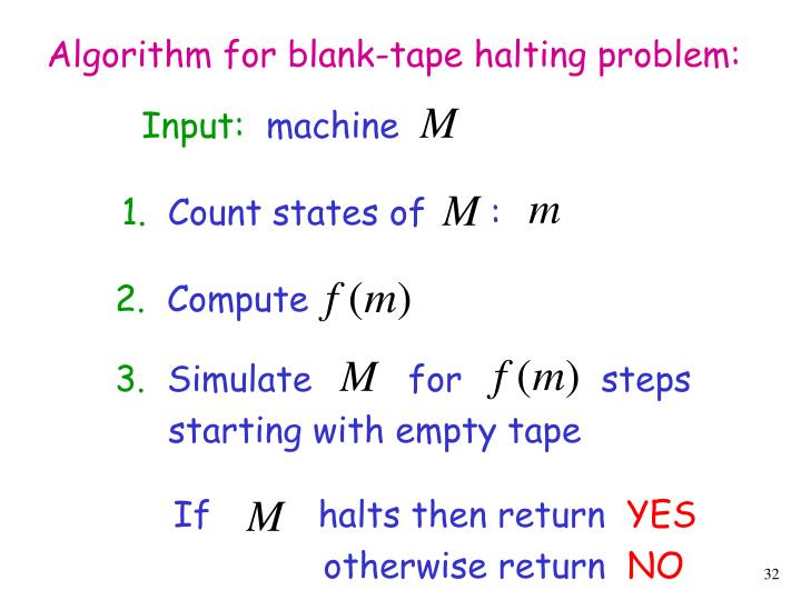 Algorithm for blank-tape halting problem: