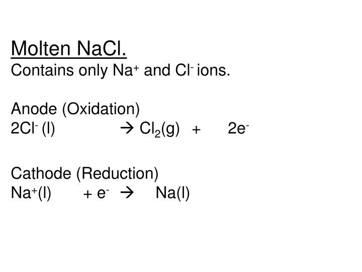 Molten NaCl.