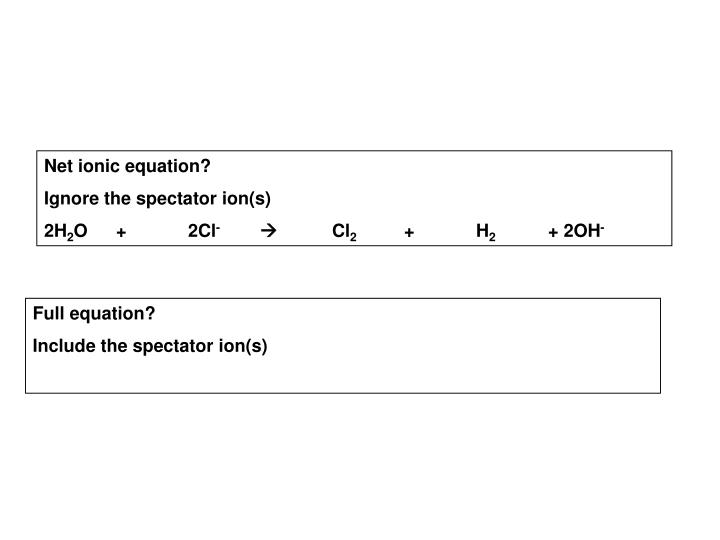 Net ionic equation?