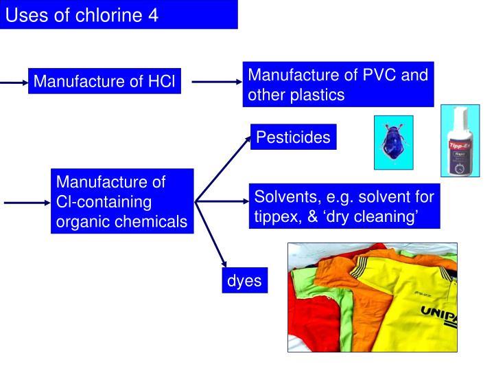 Uses of chlorine 4