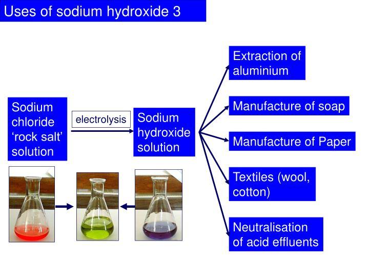 Uses of sodium hydroxide 3