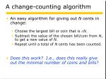 a change counting algorithm