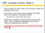 fkp greedy choice step 2