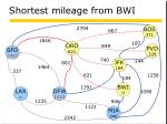 shortest mileage from bwi5