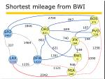 shortest mileage from bwi6