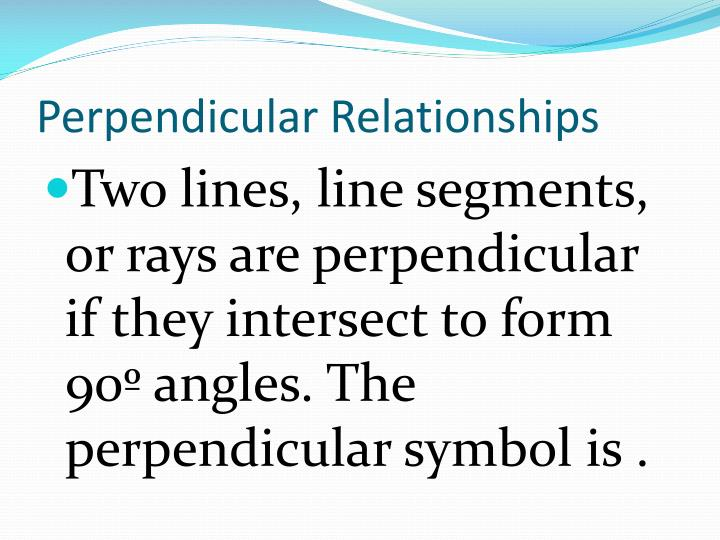 Perpendicular Relationships