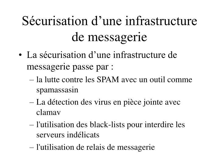 Sécurisation d'une infrastructure de messagerie