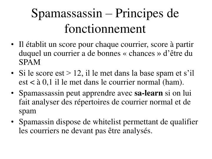 Spamassassin – Principes de fonctionnement