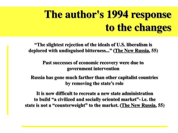 The author's 1994 response