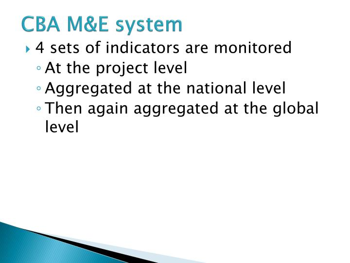 CBA M&E system