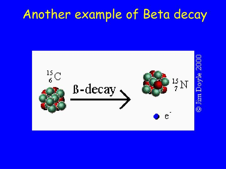 Another example of Beta decay