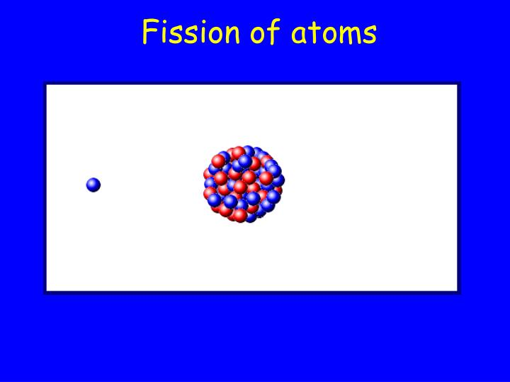 Fission of atoms