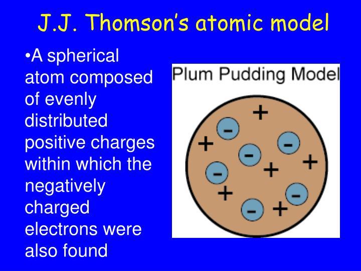 J.J. Thomson's atomic model