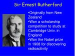 sir ernest rutherford