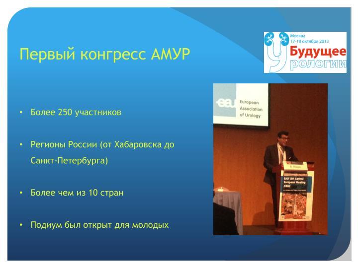 Первый конгресс АМУР