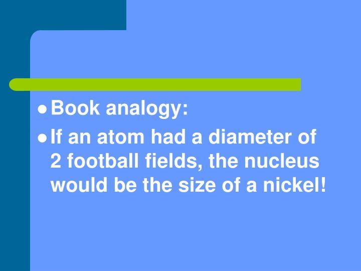 Book analogy: