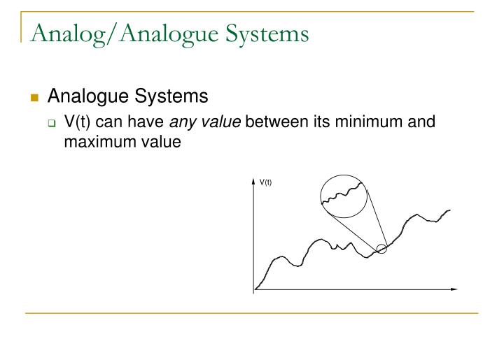 Analog/Analogue Systems