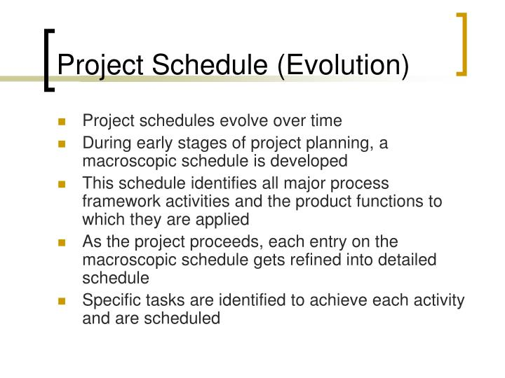 Project Schedule (Evolution)