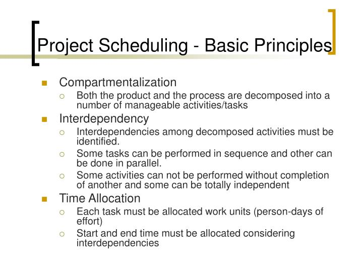 Project Scheduling - Basic Principles
